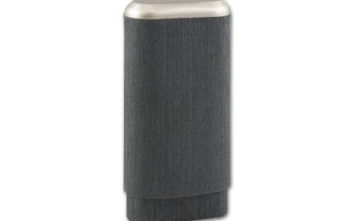 Szivartok 3 szivar részére, fém díszítéssel - szürke