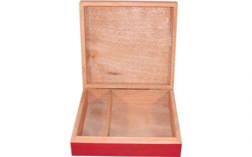 Medici humidor 15 szál szivar részére, cédrusfa szivartartó, párásító, hygrométer - cherry