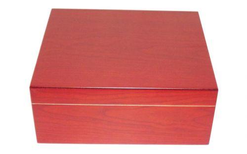 Medici humidor 40 szál szivar részére, cédrusfa szivartartó, párásító, hygrométer - cherry
