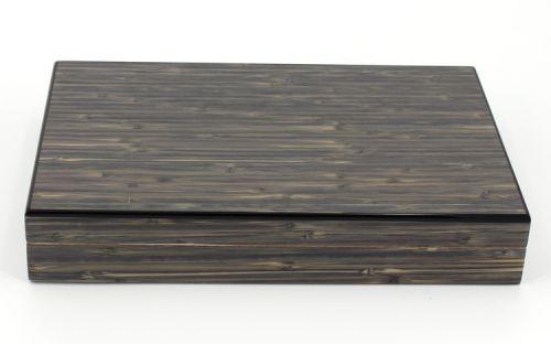 Humidor 30 szál szivar részére, spanyol cédrusfa szivartartó doboz, párásítóval - Bambusz