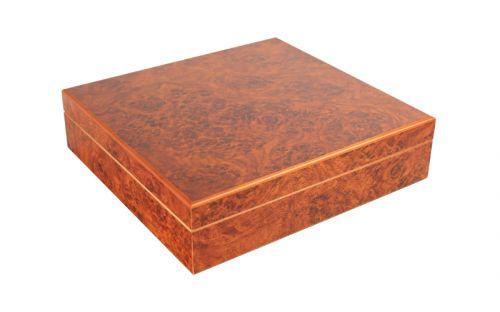Humidor 20 szál - spanyol cédrusfa szivar tároló doboz, párásítóval - bruyere