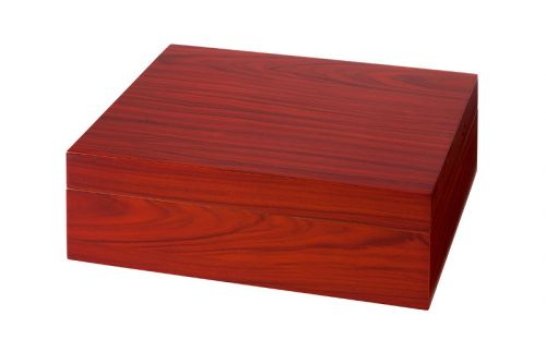 Humidor 50 szál szivar részére, cédrusfa szivar doboz, párásítóval, hygrométerrel - bubingafa, Angelo