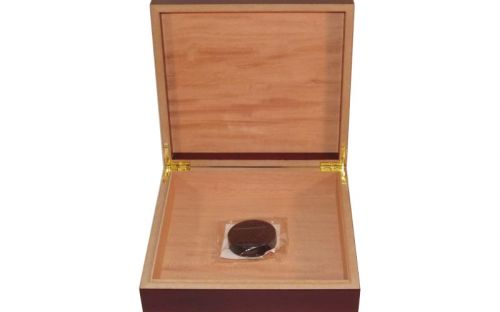 Humidor 20 szál szivar részére, cédrusfa szivardoboz, párásítóval - mahagóni, Angelo