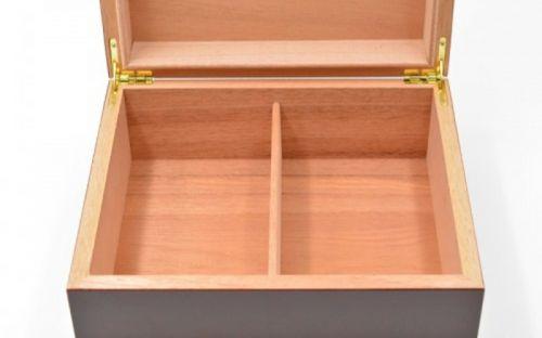 Humidor 40 szál szivar részére, matt cseresznye színű szivar tároló doboz + AJÁNDÉK szett!