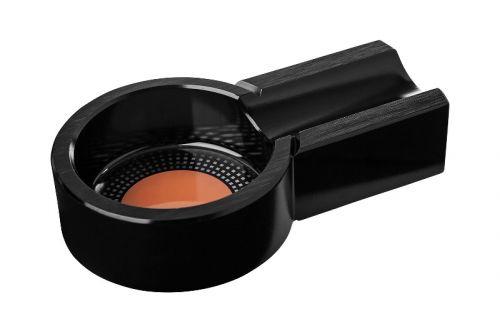 Szivar hamutartó - 1 szivarnak, fekete ovális
