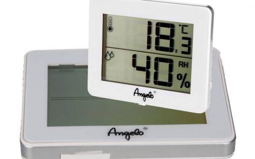 Szivar tartó dobozba digitális thermo-hygrométer - páratartalom és hőmérséklet mérő, fehér, Angelo (10x8cm)