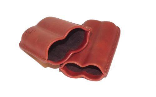 Szivartok - 2 szivar részére, barna bőr - Angelo
