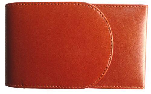 Szivartok barna bőrből - 4 szivar részére (14x8cm)