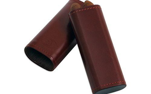 Szivartok barna bőrből - 2 szivar részére (12x4cm)