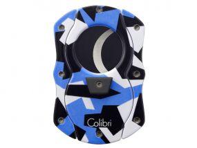 Szivarvágó Colibri Camo C-Cut - kék (22mm)