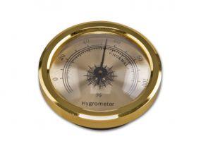 Humidor hygrométer - arany színű (4,5cm)
