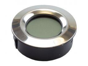 Szivar tartó dobozba digitális thermo-hygrométer - páratartalom és hőmérséklet mérő - kerek (4,5cm)