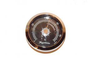 Humidor hygrométer - fekete színű, Angelo (45mm)