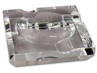 Kristályüveg szivar hamutartó - négyzet (15x15cm)