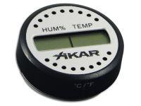 Szivar tartó dobozba digitális thermo-hygrométer - páratartalom és hőmérséklet mérő - kerek, Xikar